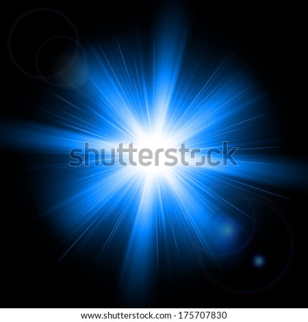 Abstract image of lighting flare. Vector illustration - stock vector