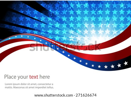 Abstract image of the American flag