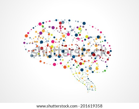 Abstract image of the brain of molecules. Eps 10  - stock vector