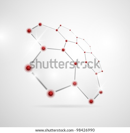 Abstract images of molecular structures in 3D. Eps 10 - stock vector