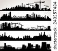 abstract industrial skyline....