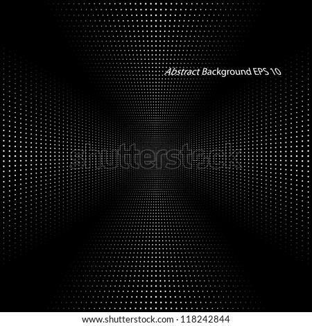 abstract infinite black background (vector eps10) - stock vector