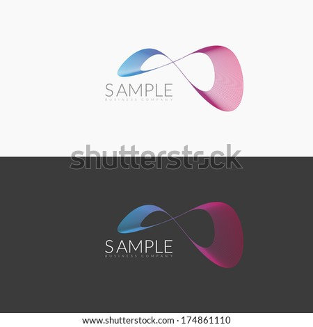 Abstract Infinite Loop Business Symbol / EPS10 Vector Illustration / - stock vector