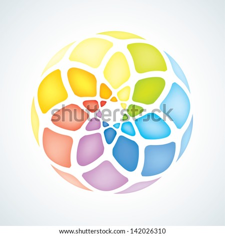 Abstract Infinite loop sign template. Bricks Icon - stock vector
