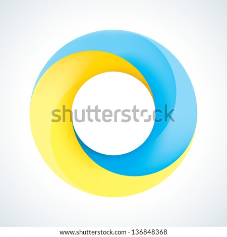 Abstract Infinite loop template. Corporate icon. 2 Pieces Shape - stock vector