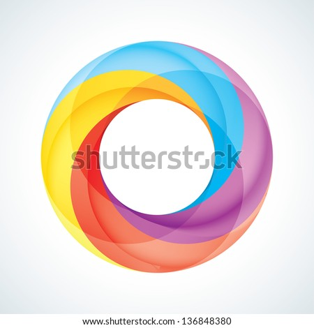 Abstract Infinite loop template. Corporate icon. 4 Pieces Shape - stock vector