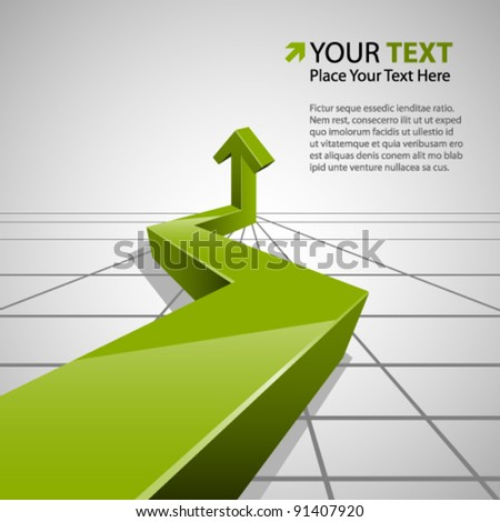 Abstract Info Graphic - stock vector