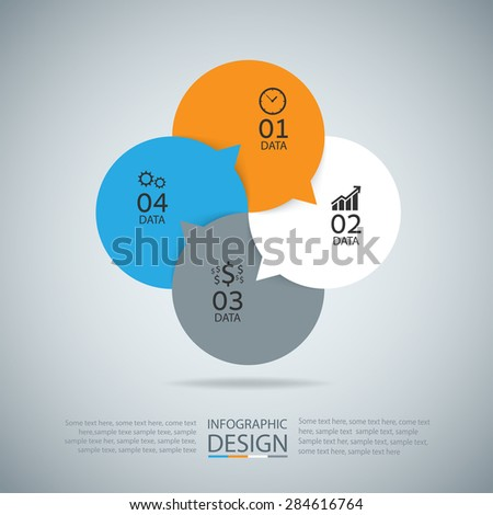 Abstract Infographic Modern Design Layout. EPS10 Vector - stock vector