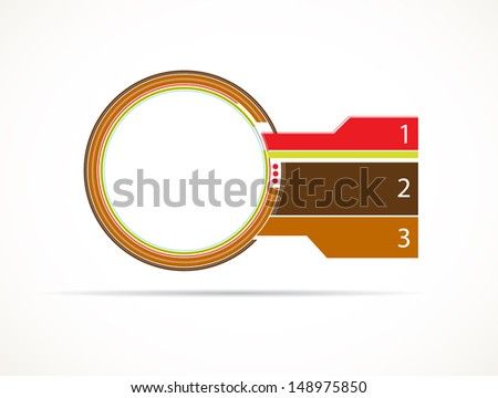 abstract infographic module - stock vector