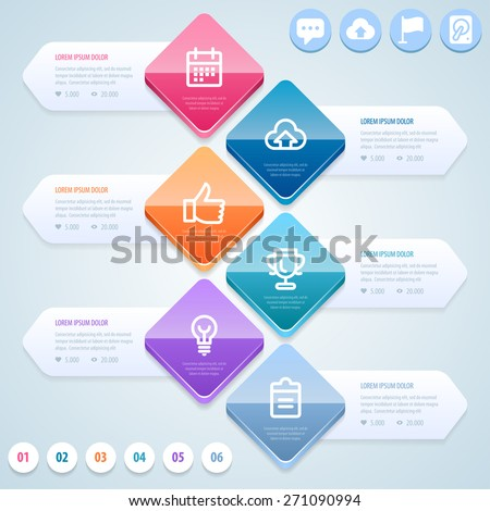 Abstract infographic template. Vector eps 10. - stock vector
