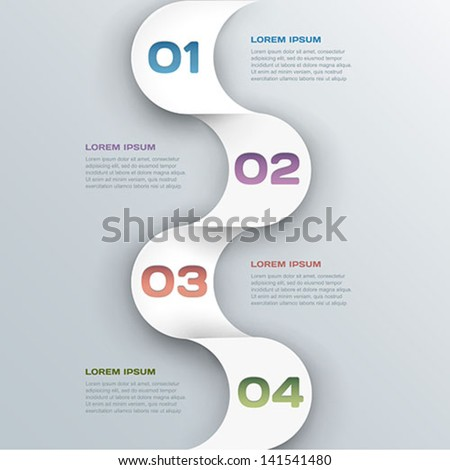 abstract infographics background - vector business template - stock vector