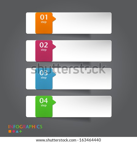 Abstract infographics banner, label, tag designs template. - stock vector