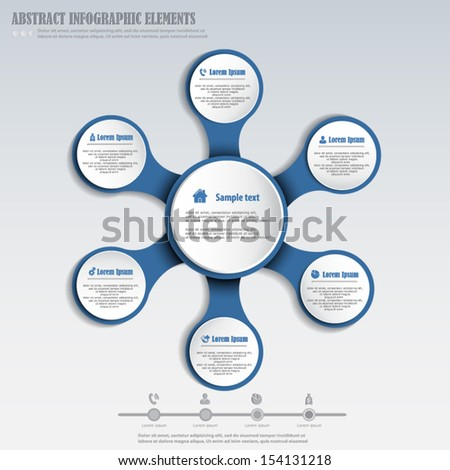 Abstract infographics design element - stock vector