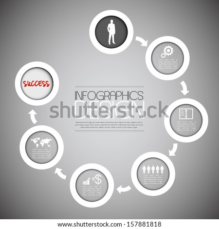 Abstract infographics diagram. The road to succes. - stock vector