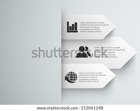 Abstract infographics paper.  - stock vector