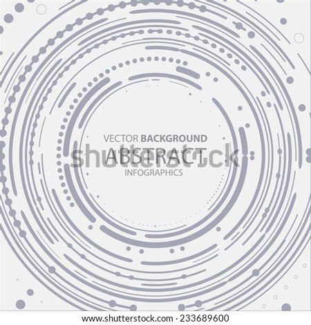 Abstract Infographics Tech Background, Oval Cover (Vector Art) - stock vector