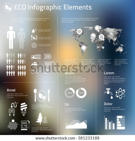 Abstract infographics template of human issues and ecological problems - stock vector