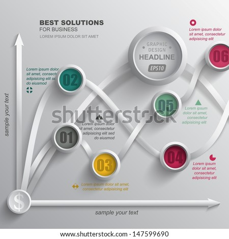 Abstract infographics. Vector template data presentation indicators. Creative design. - stock vector