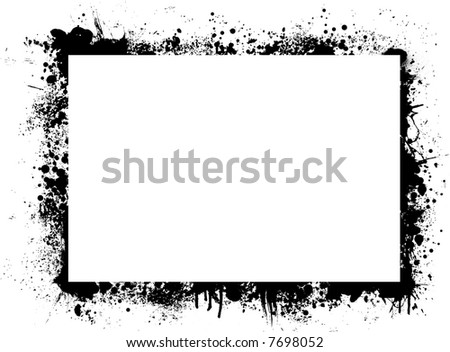 Abstract ink border with plenty of white copy space - stock vector
