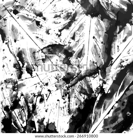 Abstract ink grunge texture vector on white background - stock vector