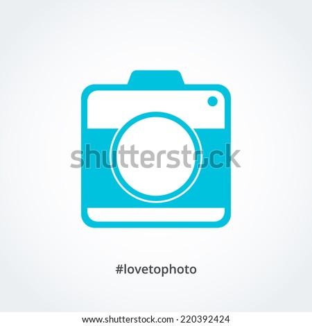 Abstract instagram camera icon, vector editable illustration. - stock vector