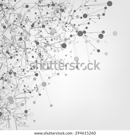 abstract internet network signal, vector nanotechnology background - stock vector