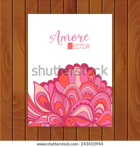 Abstract invitation card with abstract wave. Template wavy frame design for card. Greeting card or package design. - stock vector
