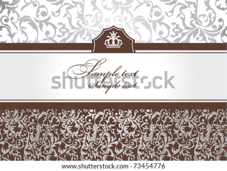 abstract invitation frame with free space for your text - stock vector