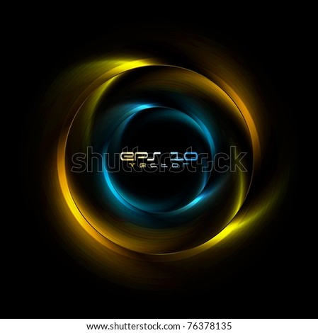 Abstract iridescent rings background. Eps 10 vector logo - stock vector