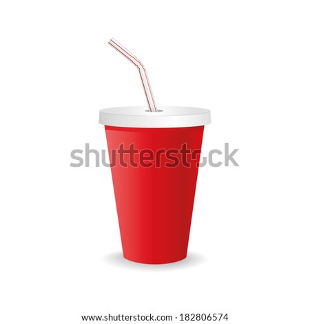 abstract isolated beverage on a white background