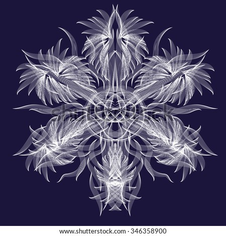 abstract isolated vector snowflake or flower - stock vector