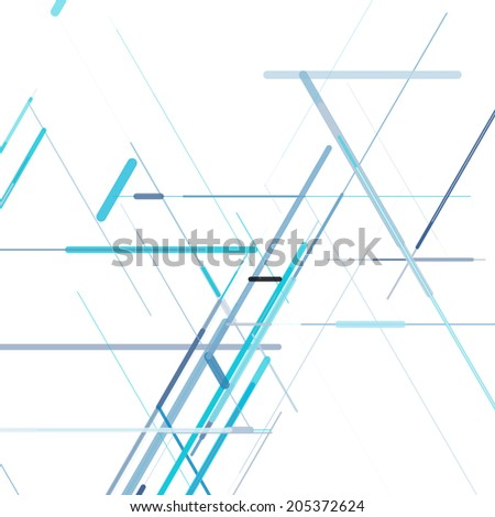 Abstract isometric computer generated 3D blueprint visualization lines background. Vector illustration for break through in technology.  - stock vector