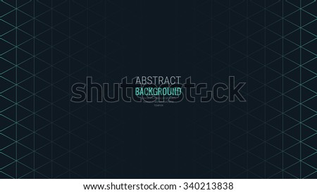 Abstract Isometric Shape line Background for Business / Web Design / Print / Presentation, 16:9 aspect ratio - stock vector