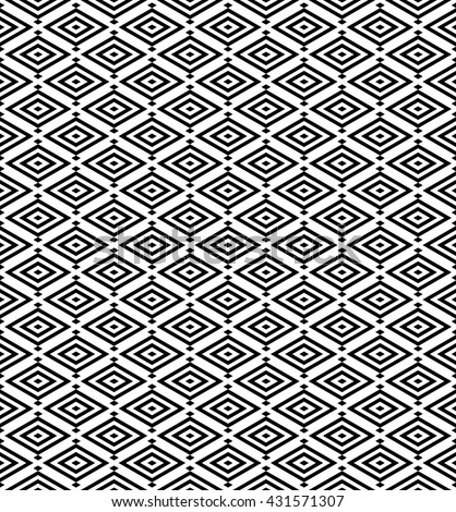 abstract japanese pattern background.geometric rhombus vector with monochrome.ornament pattern