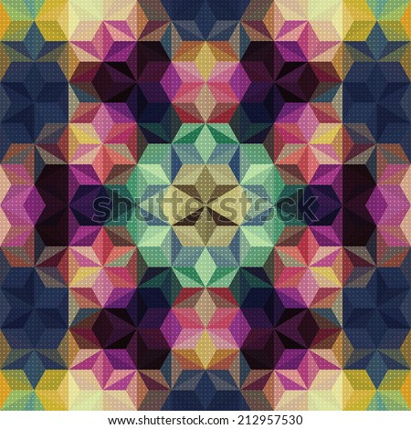 Abstract Kaleidoscope Pattern - stock vector