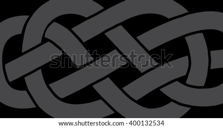 Abstract knot on a rope pattern, vector illustration - stock vector