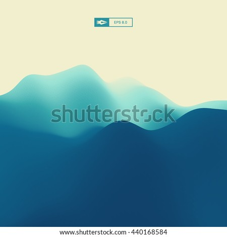 Abstract Landscape Background. 3d Vector Illustration.  - stock vector