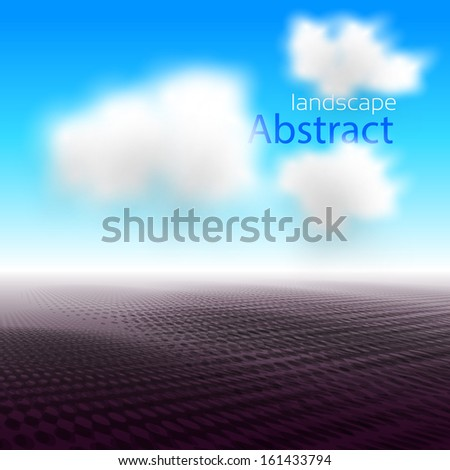 Abstract landscape for your imagimations, designs, easy editable - stock vector