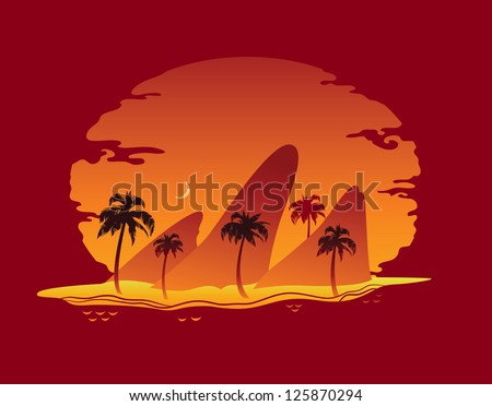 Abstract Landscape of Tropical Beach