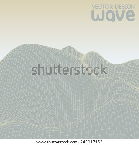 Abstract landscape. Vector background.