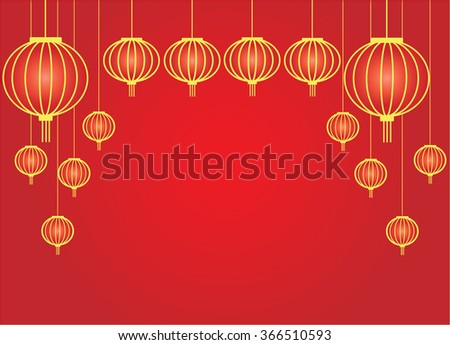 Abstract lantern chinese new year background vector design