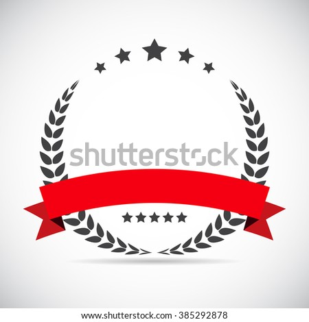 Abstract  Laurel Design Label Vector Illustration EPS10 - stock vector