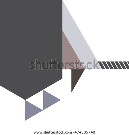 abstract layout template background, geometric vector illustration