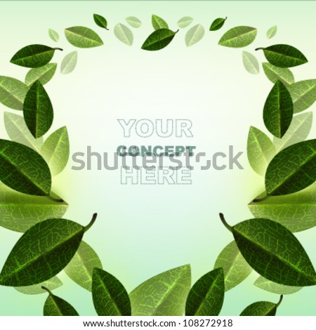 abstract leaf background.Vector design.ecology concept. - stock vector