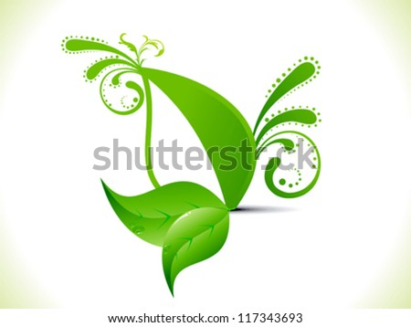 abstract leaf concept vector illustration