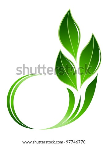 Abstract leafs icon - stock vector