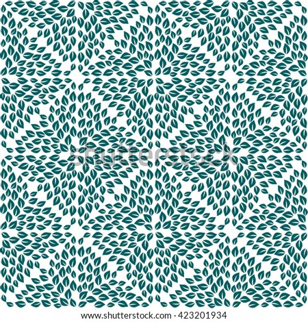 Abstract leaves pattern. Seamless vector.
