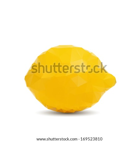 Abstract lemon with triangle style - stock vector