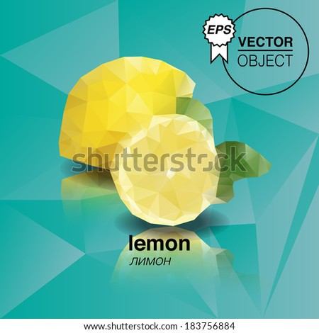 Abstract lemon with triangle style