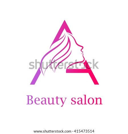 Beauty salon logo stock images royalty free images for Abstract beauty salon